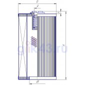 Фильтроэлемент 300126 Internormen (56x26x167) MF 01.E 120.25P.16.S.P.
